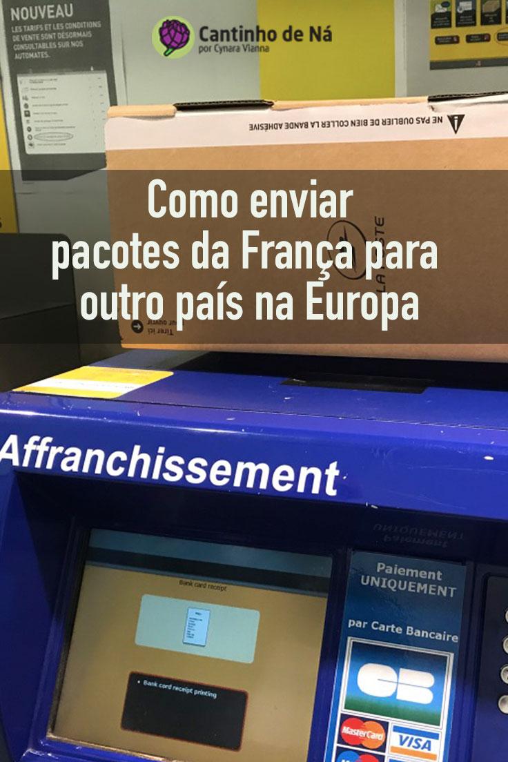 Enviar pacotes na Europa