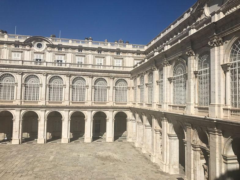 Vista do interior do palácio