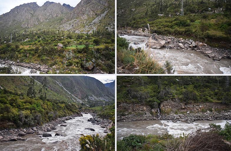 Vista do trem para Machu Picchu