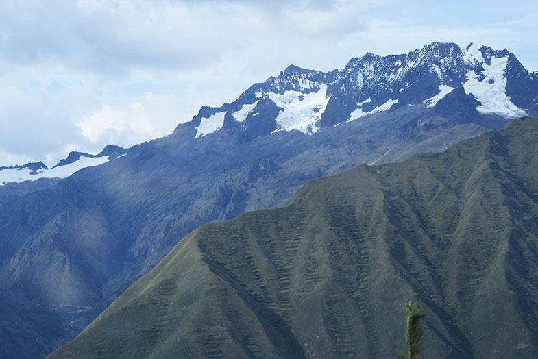 Caminho entre Cusco e Ollantaytambo