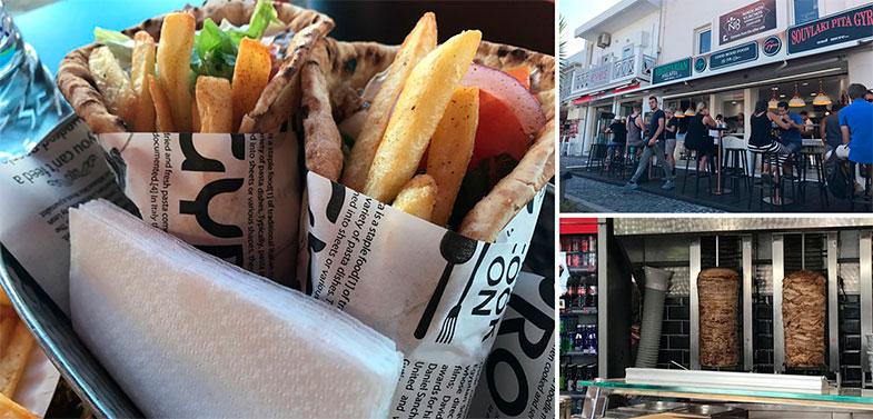 Onde comer em Santorini giros