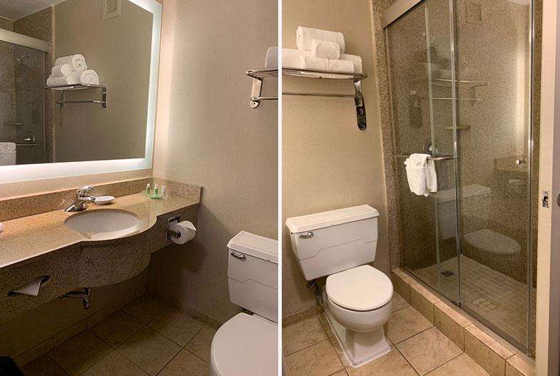 Banheiro do hotel em Nashville