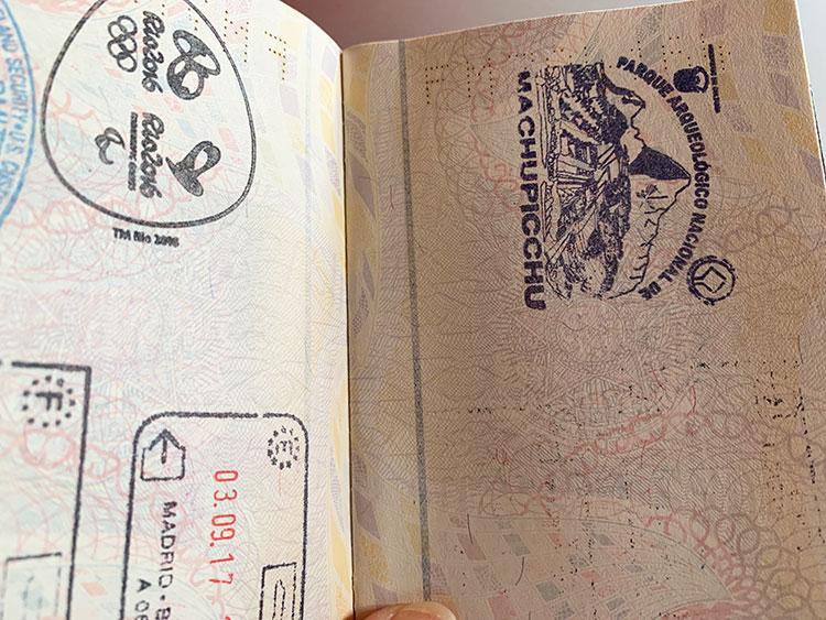 Machu Picchu passaporte carimbado
