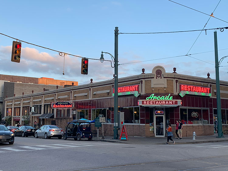 Arcade na Main Street em Memphis
