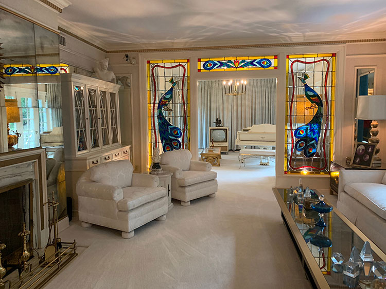 Sala de estar de Graceland em Memphis