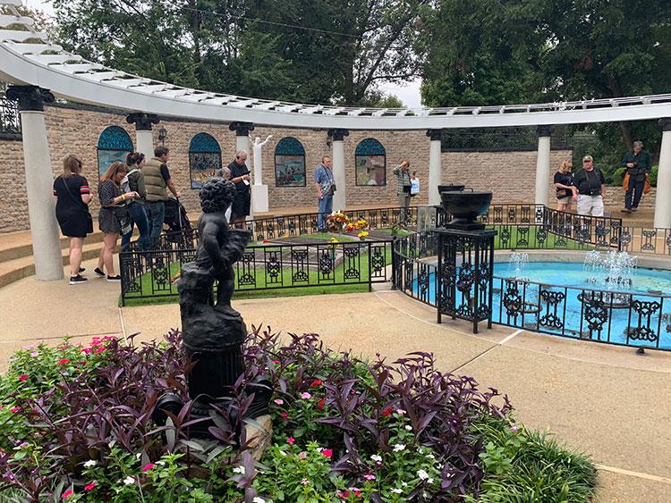 Jardim de Graceland em Memphis