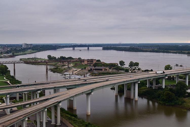 Memphis vista do alto da Pyramid