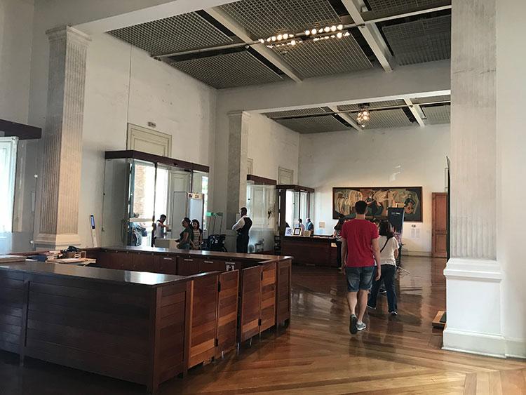 Recepção da Pinacoteca de São Paulo