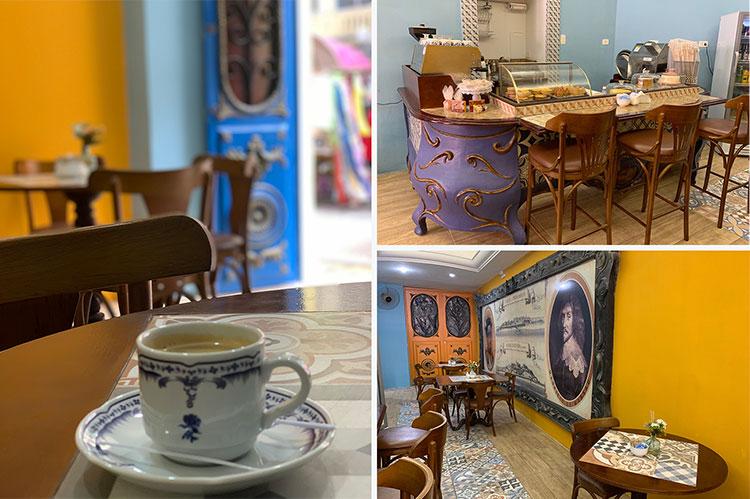 Café vizinho ao Museu dos Bonecos Gigantes em Recife