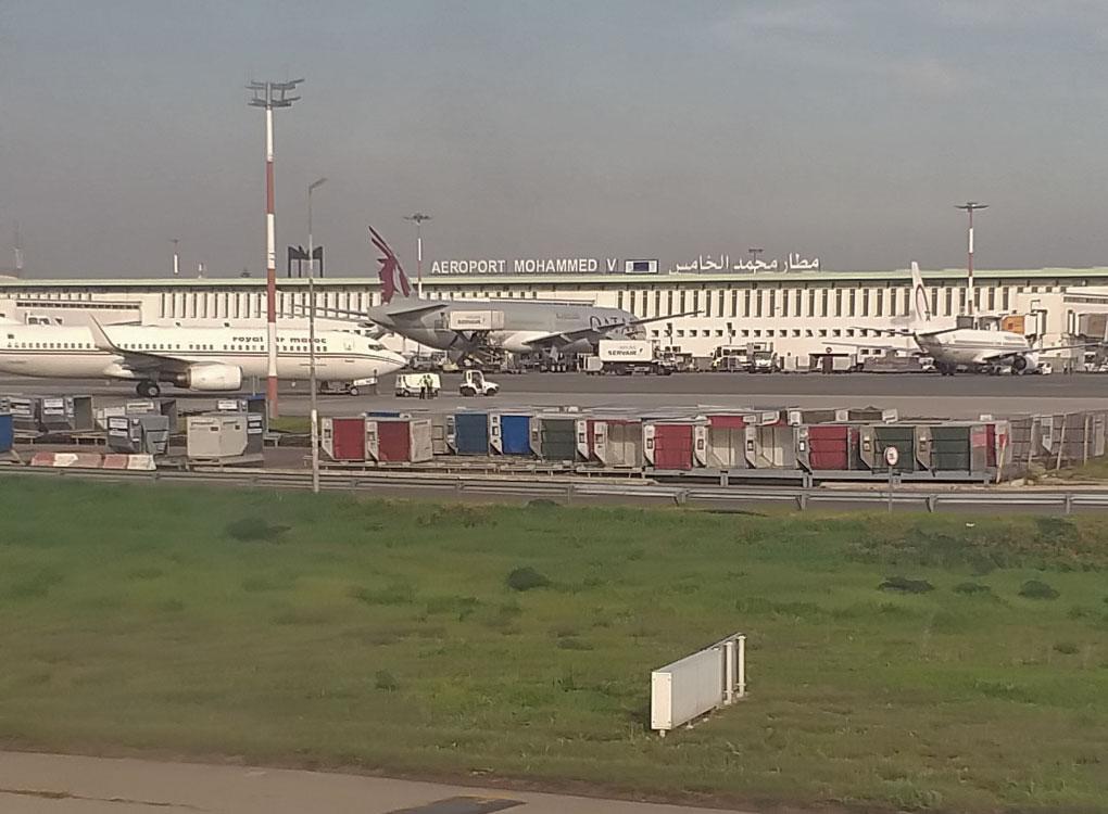 Aeroporto no Marrocos