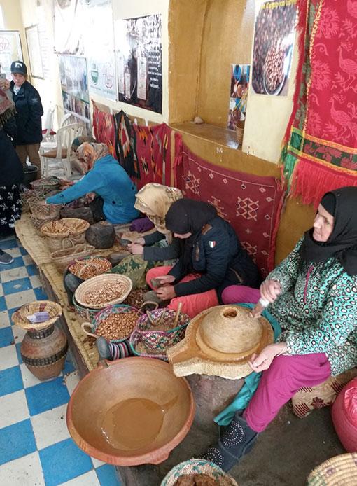 Fabricação de óleo arganel no Marrocos