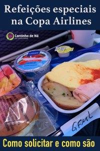 Refeições especiais nos voos Copa Airlines