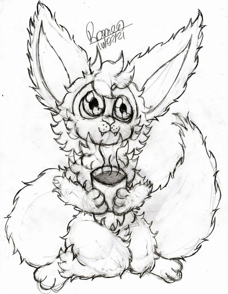 """O desenho """"Tomando Café"""" finalizado"""