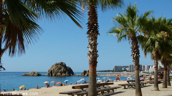 Blanes, popular Costa Brava beach resort
