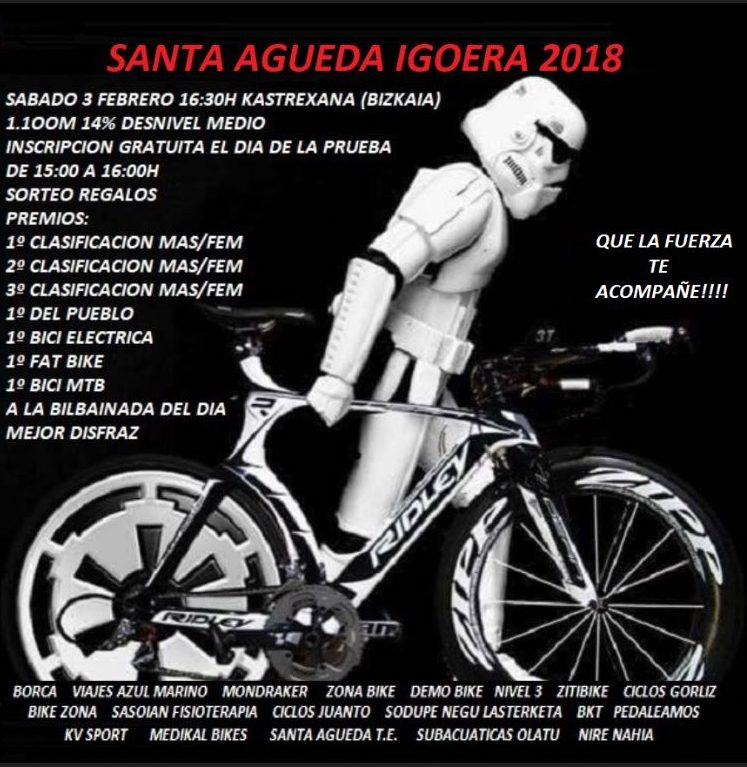 Crono Escalada Santa Agueda Igoera 2018