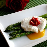 Poached Eggs with Sambal Olek