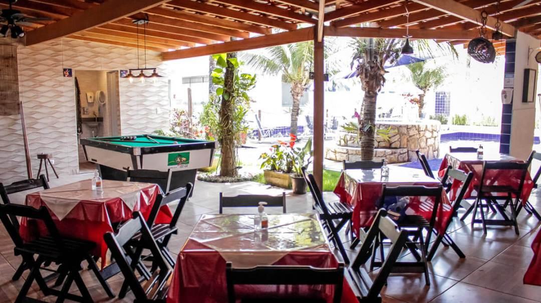 Area Cafe da Pousada Canto Azul Praia de Pernambuco Guaruja SP