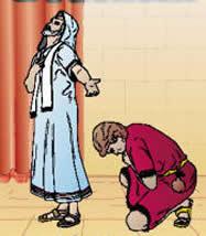 Resultado de imagem para imagem do fariseu e publicano orando - em site católico