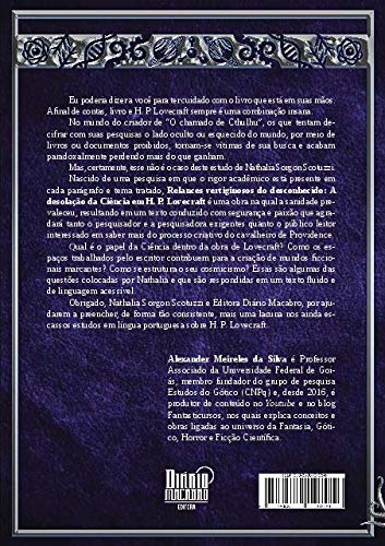 Relances Vertiginosos do Desconhecido a Desolação da Ciência em H P Lovecraft - Nathalia Srgon Scotuzzi - Editora Diário Macrabro - Canto do Gárgula