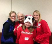 Four women, young and old volunteer to help