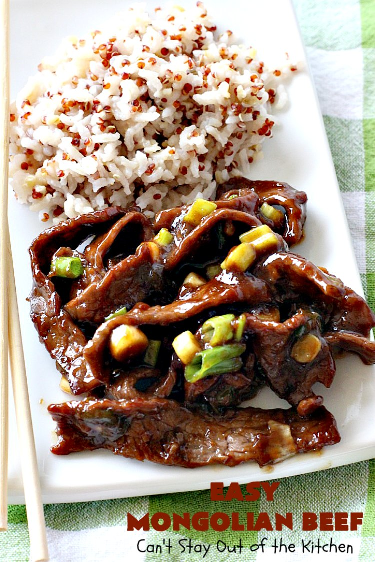 Easy Mongolian Beef - Can't Stay Out of the Kitchen