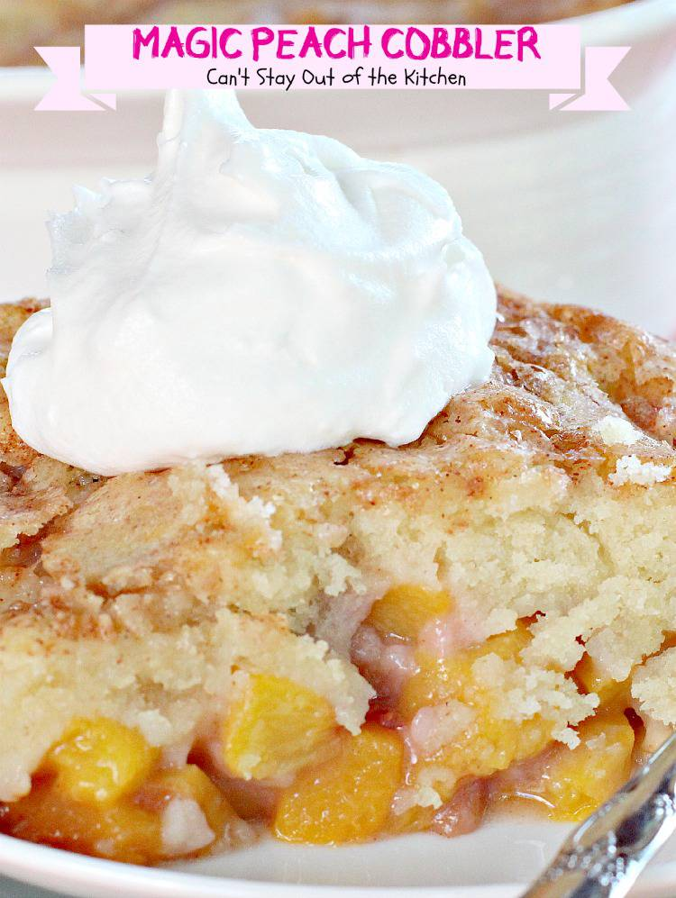Magic Peach Cobbler Cant Stay Out Of The Kitchen