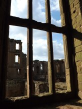 Kenilworth through the windows of the Leicester Tower - Tudor geometry.