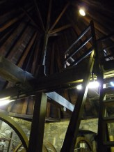 The claustrophobia inducing stairs mentioned last week led here. Can you count the triangles? I gave up.