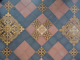 The floor of the Norman Church in Garway -- built atop a Templar Church.