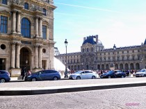 Coming into the Louvre.