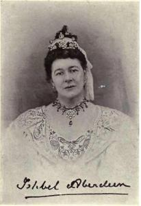 Caption: William James Topley's photograph of Ishbel Hamilton-Gordon, Marchioness of Aberdeen and Temair, c. 1900.