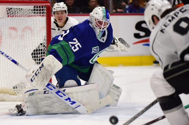 Postgame Markstrom Backstops Canucks To 3 2 Win Over Kings Canucksarmy