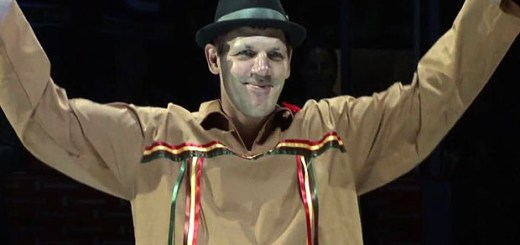 Gino Odjick at Pavel Bure's jersey retirement ceremony.