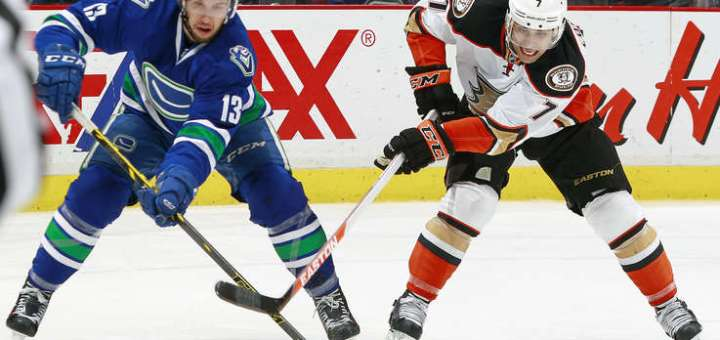 Nick Bonino, Vancouver Canucks (Photo credit: NHL.com)