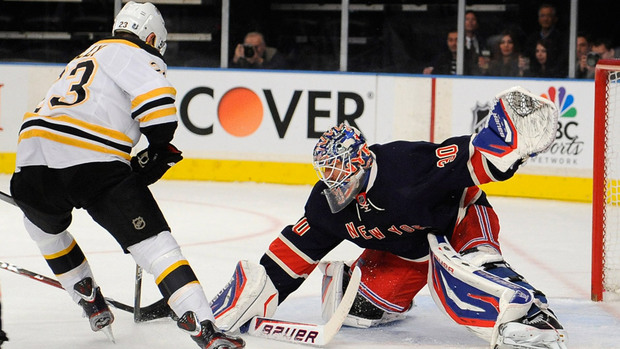 The Bruins and the Rangers are ranked at the top of the Eastern Conference to start the 2012/2013 season.