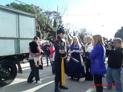 Escuelas, vecinos e instituciones festejaron  el bicentenario en Cañuelas