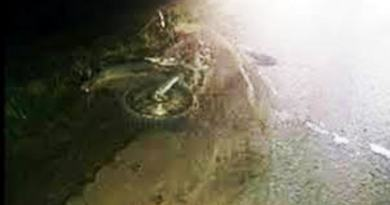Cañuelas Ruta Nacional N 205 un rollo de Alambre provocó un accidente