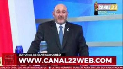 Santiago Cúneo y el lanzamiento del Canal 22