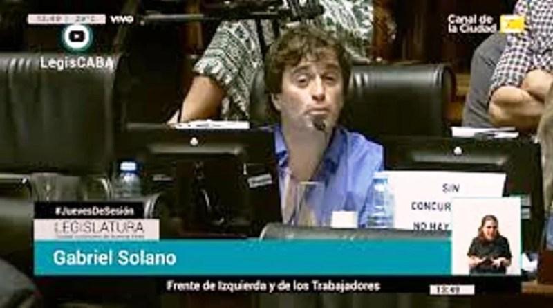 , Gabriel Solano denunció a los legisladores porteños., Cañuelas Noticias - Noticias de Argentina