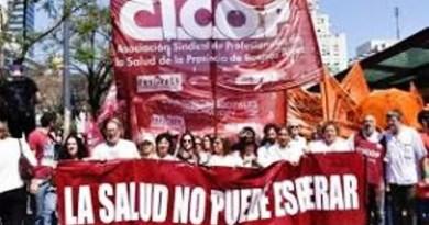 CICOP había solicitado formalmente el 16 de diciembre, apenas asumidas las nuevas autoridades provinciales, una audiencia con el Ministro de Salud Daniel Gollán., CNoticias - Cañuelas Noticias