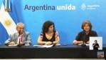 Casa Rosada, conferencia de Prensa del gobierno por el Coronavirus.