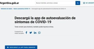 , EL Ministerio de Salud de Argentina lanzo la app de autoevaluación de síntomas de COVID-19, Cañuelas Noticias