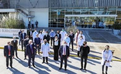 El Presidente Alberto Fernández y el ministro de Salud recorrieron los nuevos hospitales de Cañuelas y Esteban Echeverría