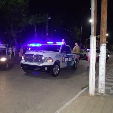 Cañuelas Coronavirus COVID-19 mega operativo de desinfección con la Policía Ecológica y Bomberos de la Provincia de Buenos Aires.