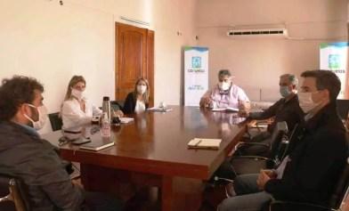 Cañuelas Reunión del Gobierno Municipal con la Cámara de Comercio.