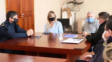 Cañuelas Fassi, en un encuentro con la cúpula de Seguridad local.