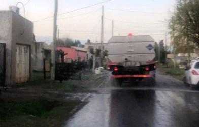 Cañuelas COVID-19 continúa la desinfección en las calles de nuestra ciudad y barrios.