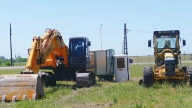 Cañuelas-Comienzan las obras de la rotonda de ruta 6 y 3.