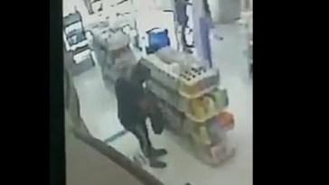 Cañuelas - Mujer  robando y capturada por cámaras de seguridad en la Farmacia Punto de Salud.