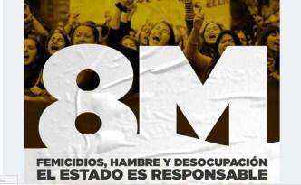 """Biasi: """"El 8m vamos de Congreso a Plaza de Mayo contra los femicidios, el hambre y la desocupación. El Estado es responsable de esta realidad."""""""